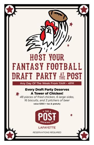 Fantasy Football Draft Parties