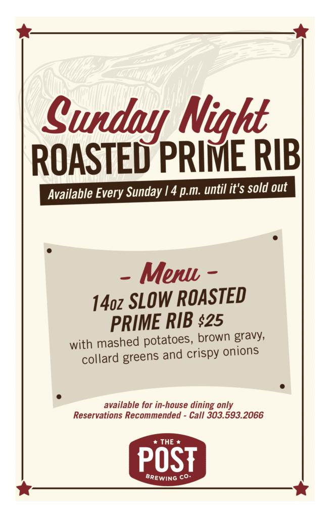 Sunday Night Roasted Prime Rib